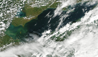 Satellite image of Lake Erie