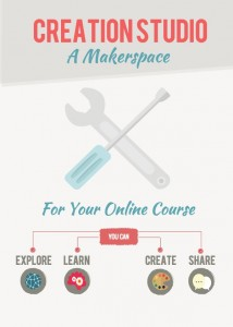A Makerspace For Your Online Course where you can explore, learn, create, and share.