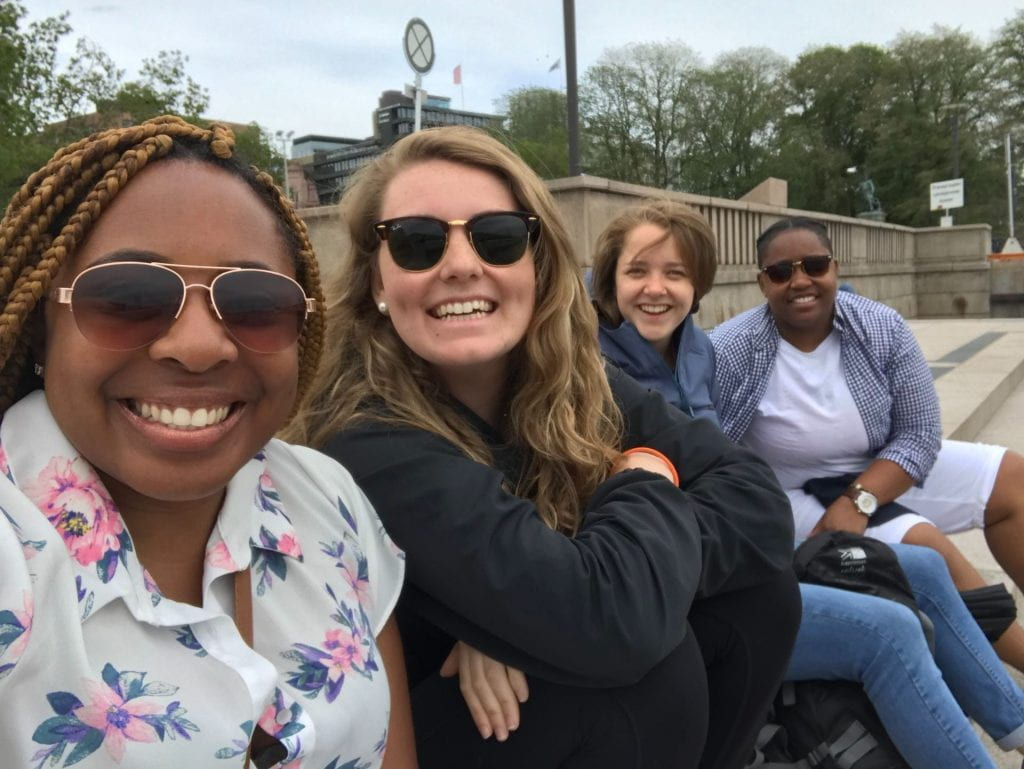 While on this trip we also met a few friends studying abroad from Germany, here is Berbe pictured with Kashmere Cooper-Pearson, Emma Zack, and myself