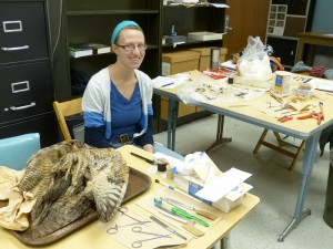 Stephanie and Great Horned Owl