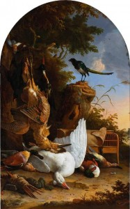 17th Century Dutch Painting of a Crested Duck