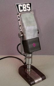 A very old CBS microphone