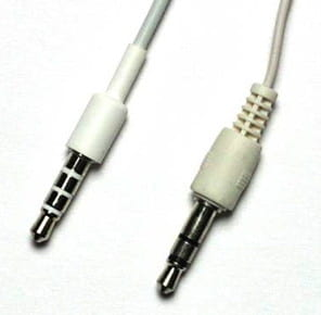 A 3.5mm headphone cord