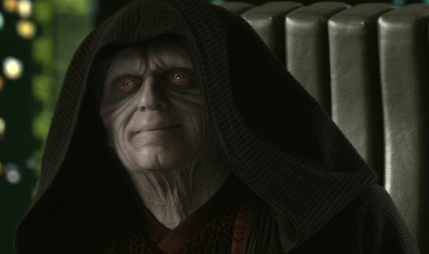 Darth Sidious looks on approvingly