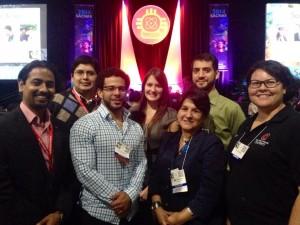 Chapter members and Advisor Dr. Marcela Hernandez.