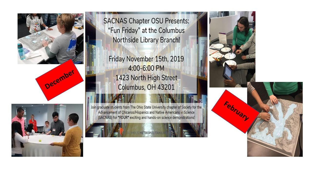 OSU SACNAS Chapter participates in Fun Fridays at the Metropolitan Library NOrthside Branch