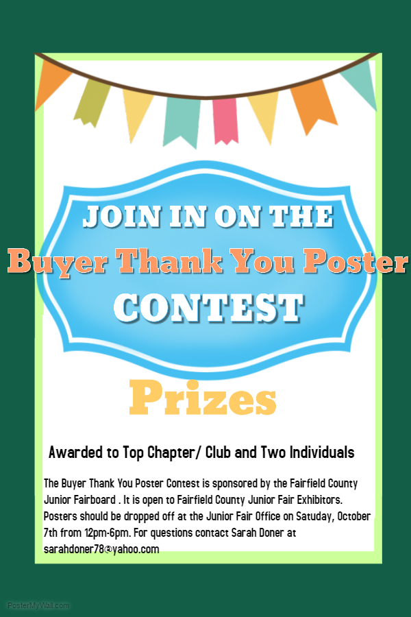 junior fair buyer thank you poster contest fairfield county 4 h