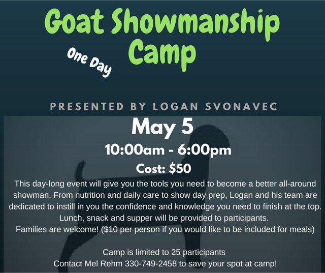 Goat Showmanship Clinic in Wayne County | Fairfield County 4-H