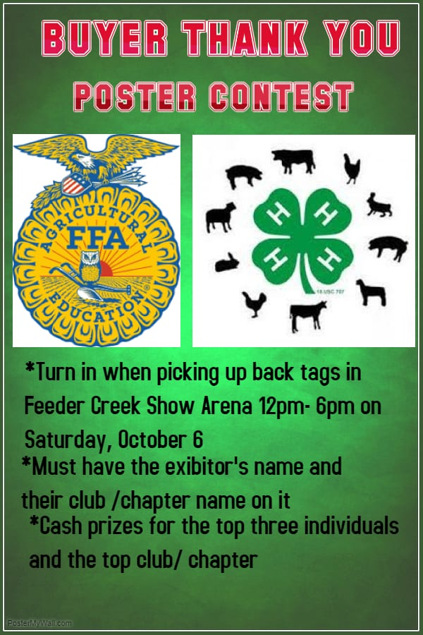 livestock sale buyer thank you poster contest fairfield county 4 h