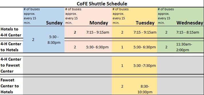 cofe-shuttle-schedule
