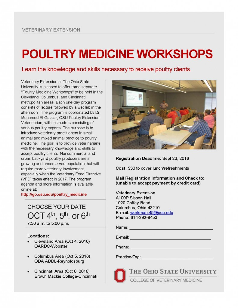 Flyer_Poultry Medicine Workshop