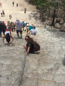 Climbing a Mayan Pyramid