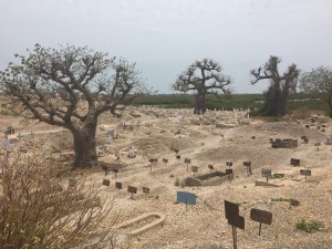 Christian and Muslim cemetery in Joal