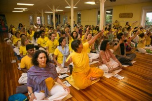 The room exploding with Indian classical music and dance, a hallmark of every Kirtan session.