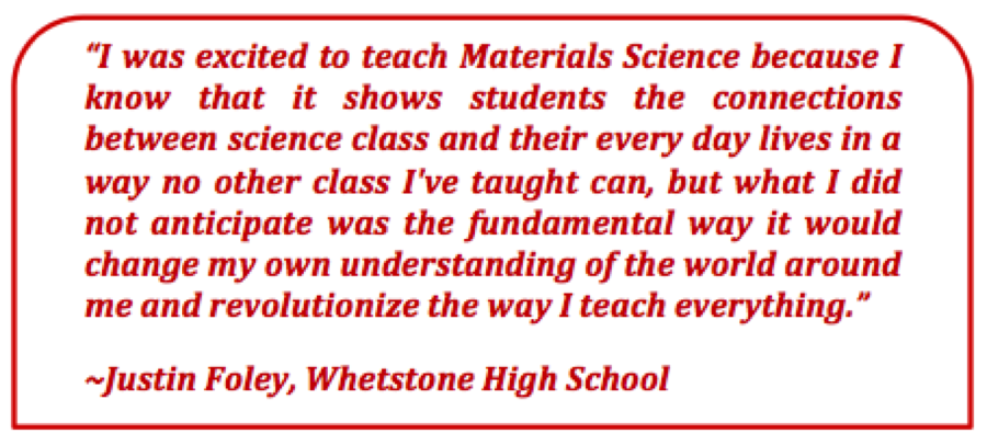 Professional Development Program   Materials Science for