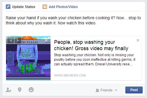 chicken video FB