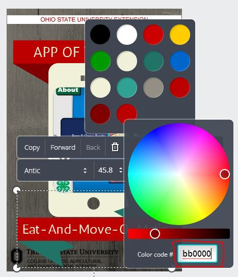 Canva changing colors 2