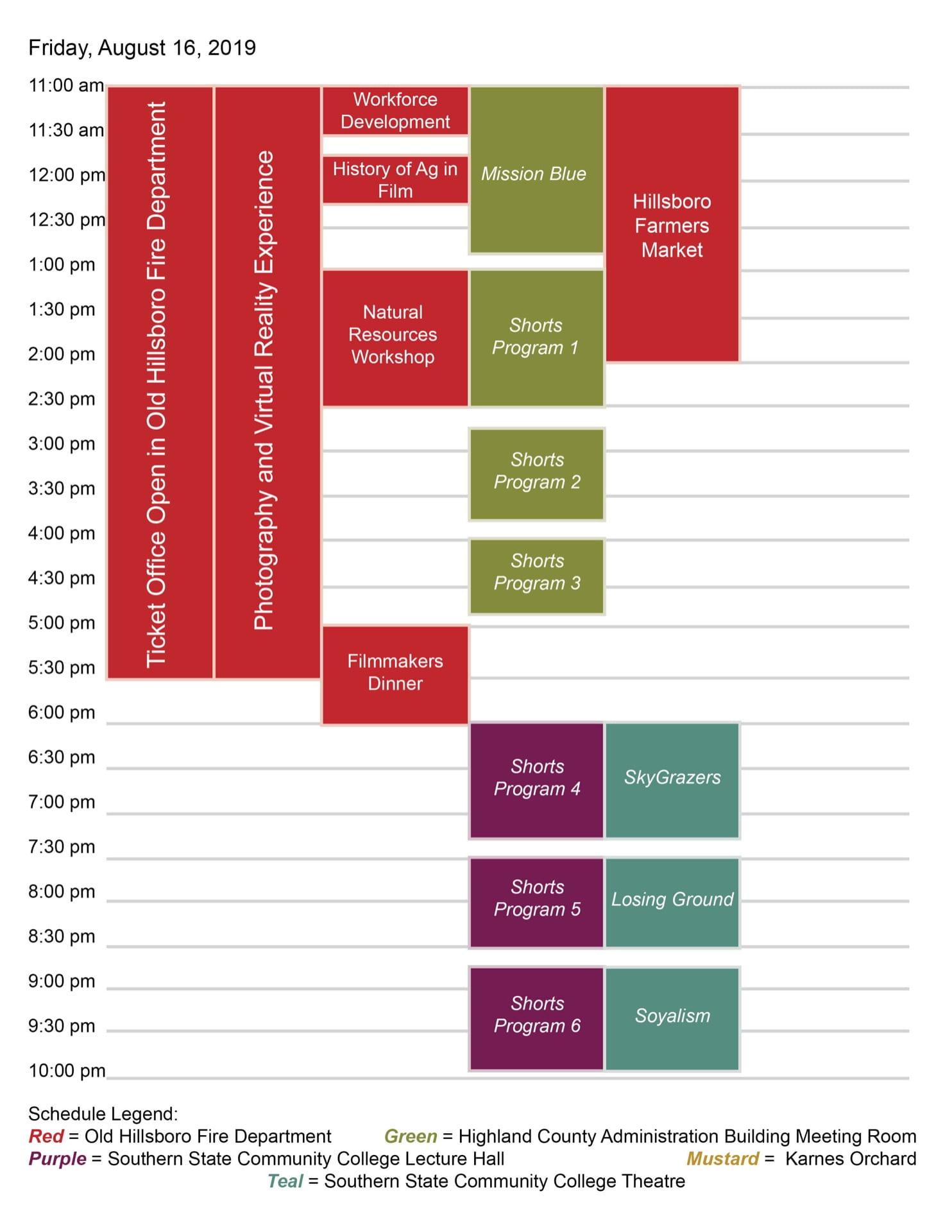 2019 Germinate International Film Fest Schedule Friday