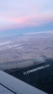 Flight into Denver International Airport