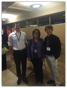 This is me with the PI, Dr. Rita Alevriadou, and PhD candidate graduate student, Chris Scheitlin, of my lab at a conference together.