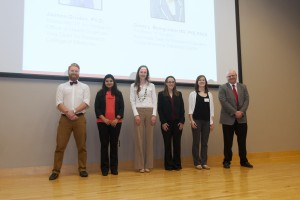 Research Day Travel Award Recipients (Lindsay Webb is second from the right)