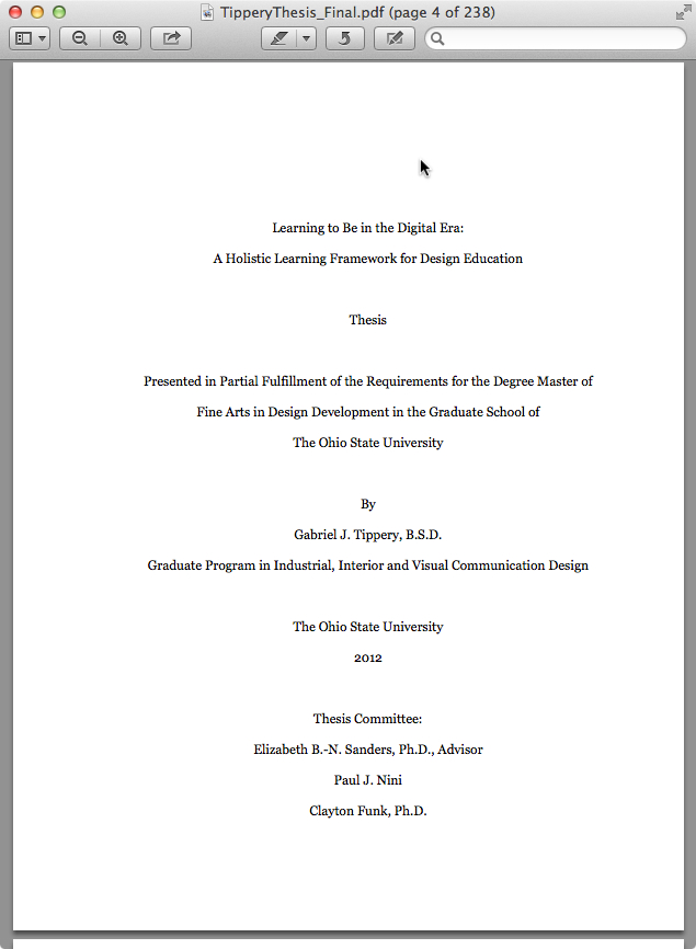 Apa dissertation table of contents 6th edition