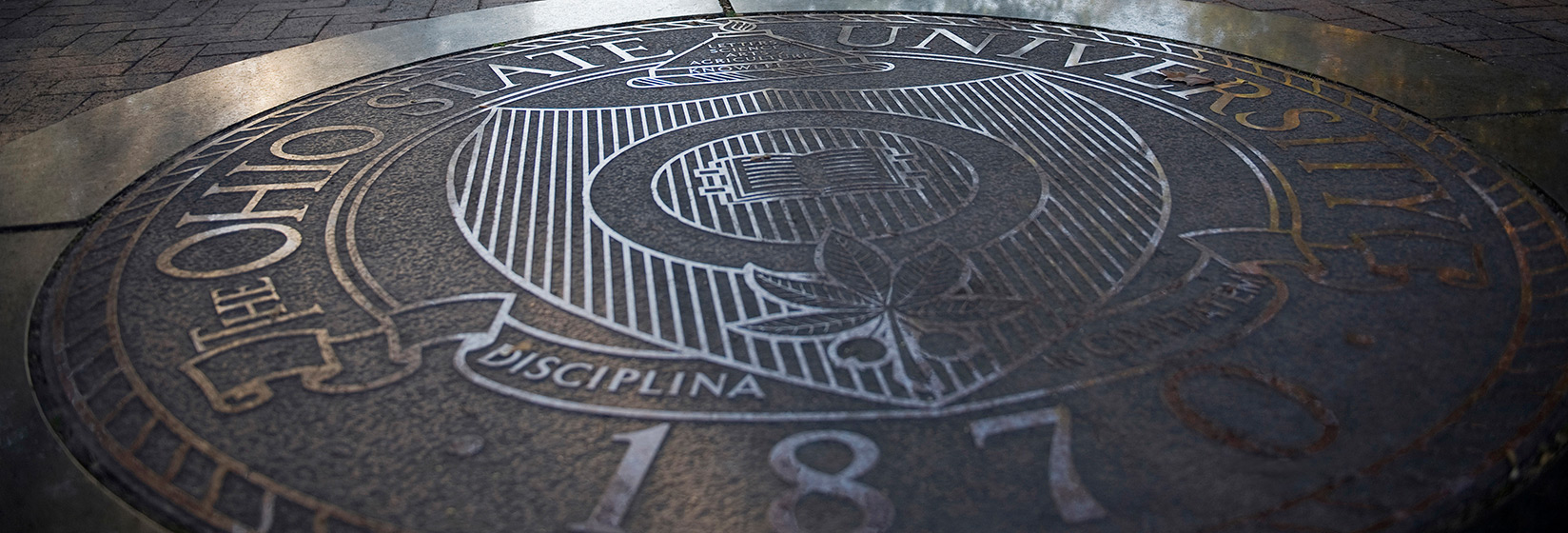 Seal of The Ohio State University on the Oval