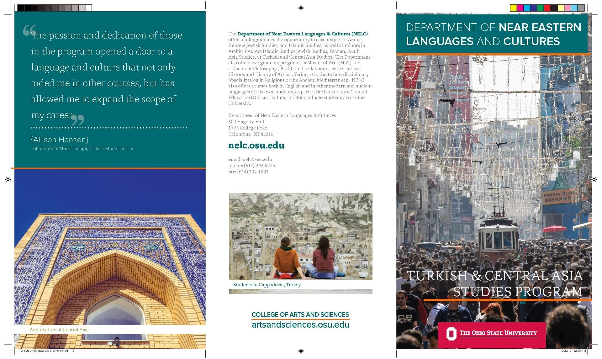 Turkish Undergraduate Brochure for NELC