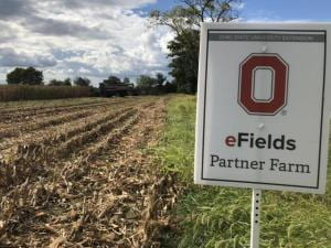 eFields partner farm sign in field