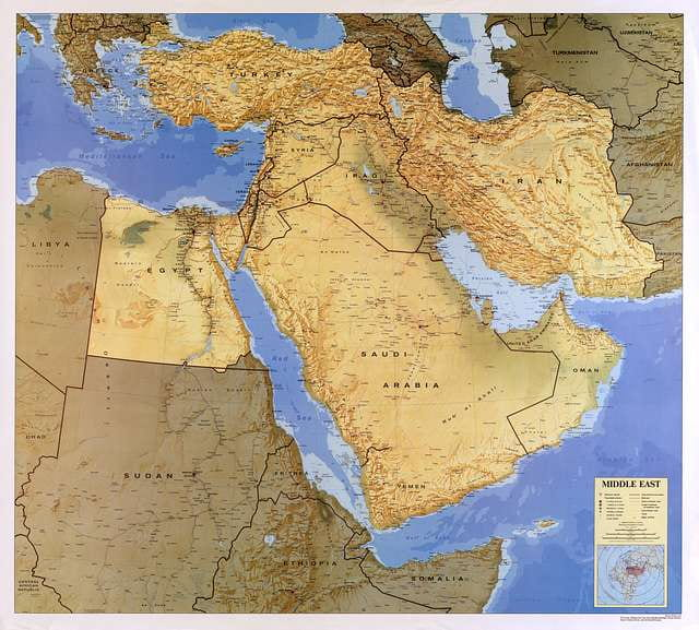 image of map of the Middle East