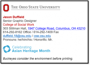 osu email signature logo depicting how to integrate signature campaign into email