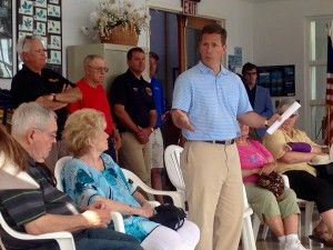 I signed people in at Congressman Dold's town hall at the Winthrop Harbor marina.