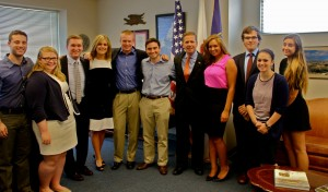 The summer interns got a group photo with Congressman Dold.
