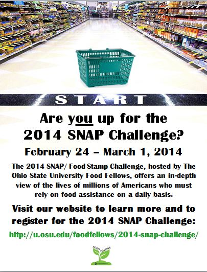 2014 snap challenge the ohio state university food fellows snap challenge kickoff february 12th from 730 830 pm in stillman hall ccuart Images