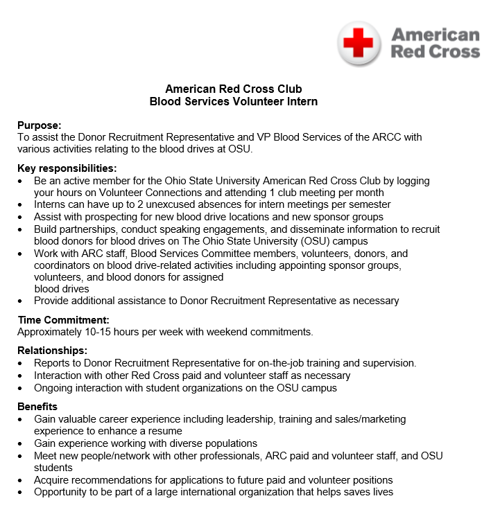 example sample volunteer resume - Sample Red Cross Resume