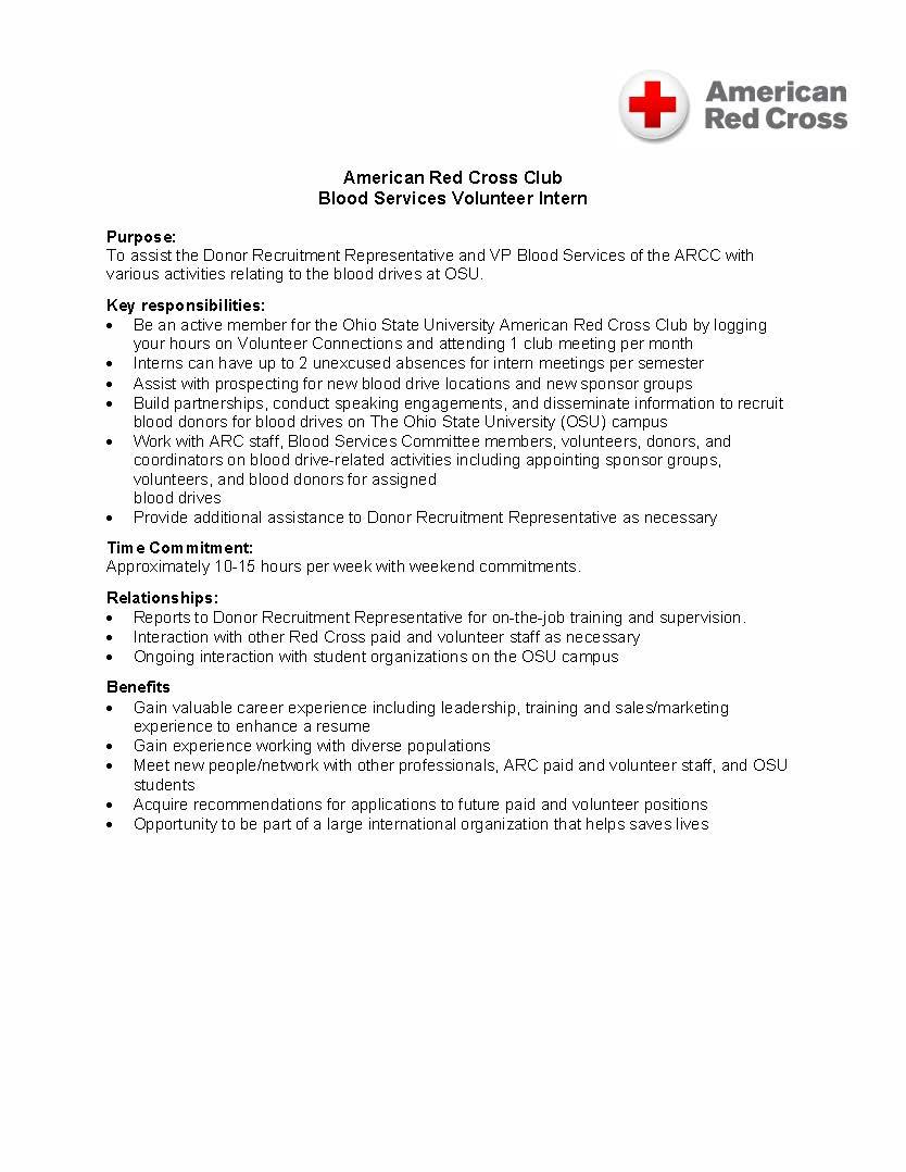 resume red cross customer service