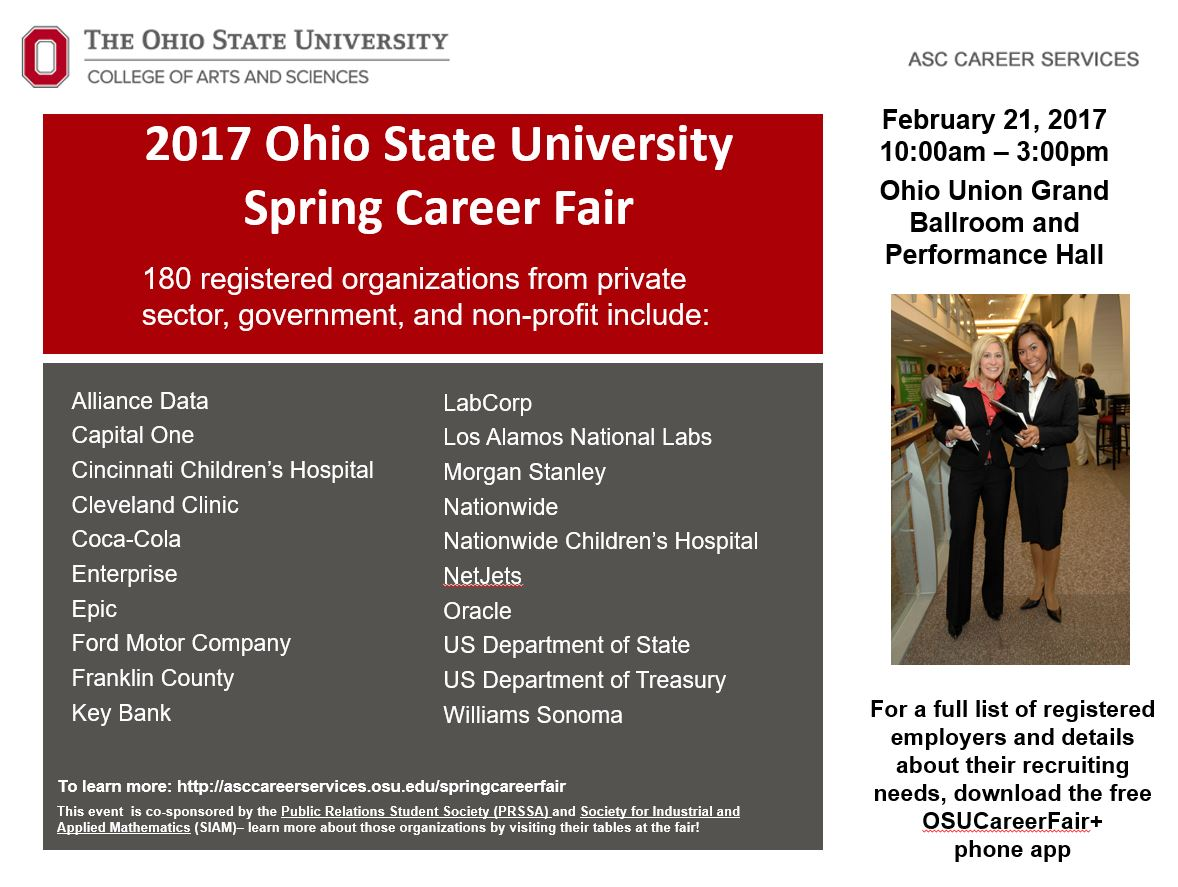 OSU Spring Career Fair – February 21st | HRS Student Resources and