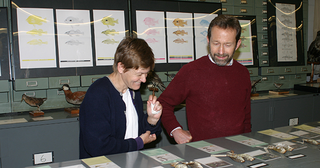 Robin Taylor and Woody Foster at the Tetrapod Collection. 2005