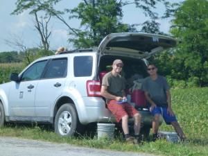 Brian and Justin at Camp Creek