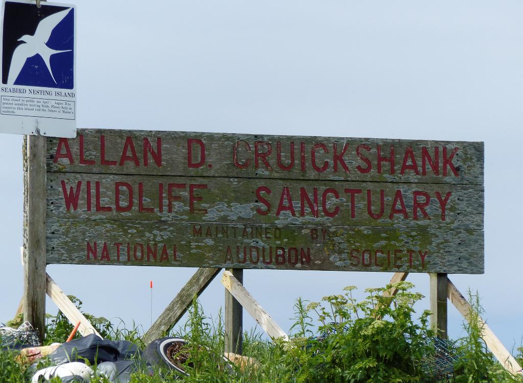 Sign for Allan D. Cruickshank Wildlife Sanctuary