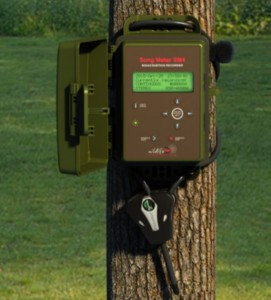 SongMeter mounted (https://www.wildlifeacoustics.com)