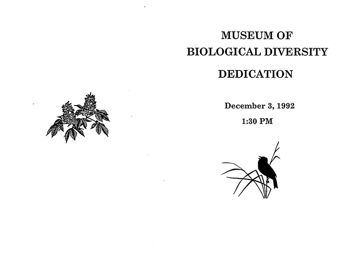 Museum opening program. 1992. Cover