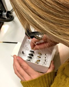 Ellen identifying beetles