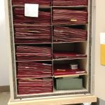Open Case with files containing type specimens.