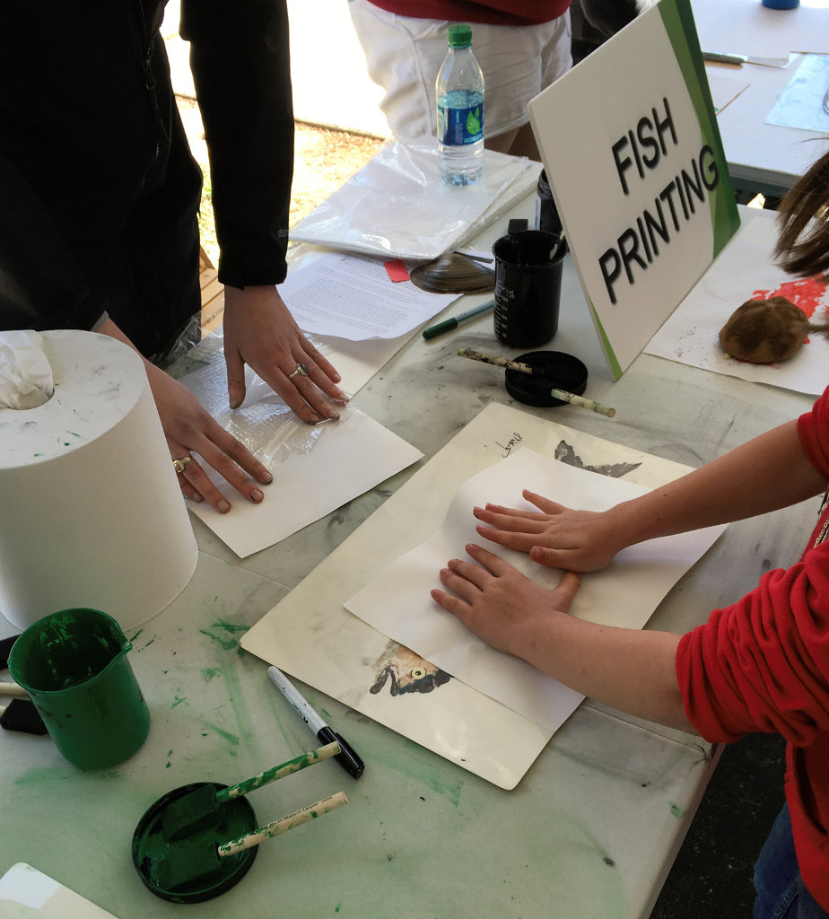 printing a fish at the Open House