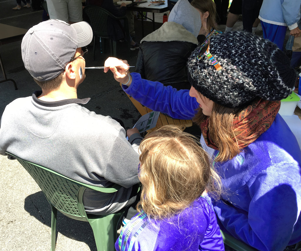 Face painting at the Open House