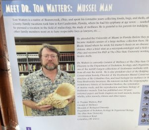 poster - Meet Dr. Tom Watters: mussel man