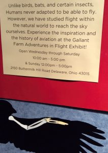 note for Gallant Farm exhibit