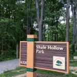 Shale Hollow park sign