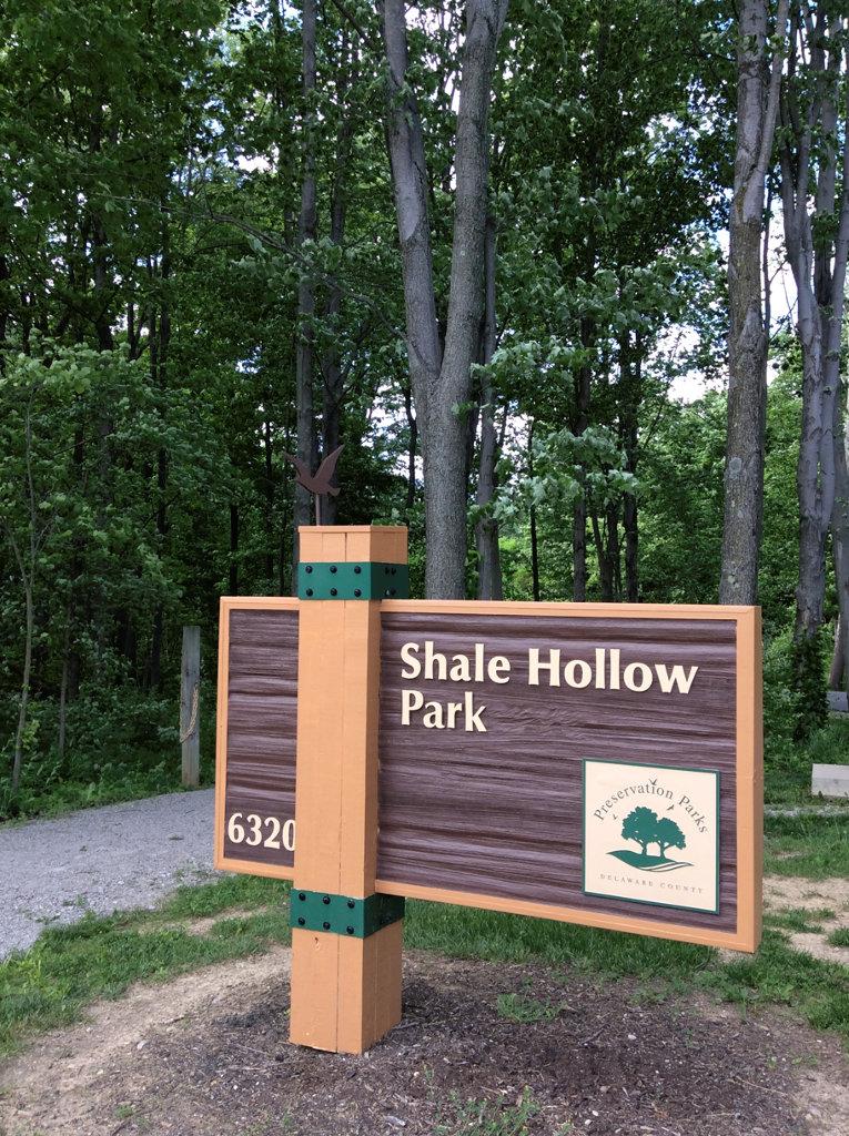 Shale Hollow park sign